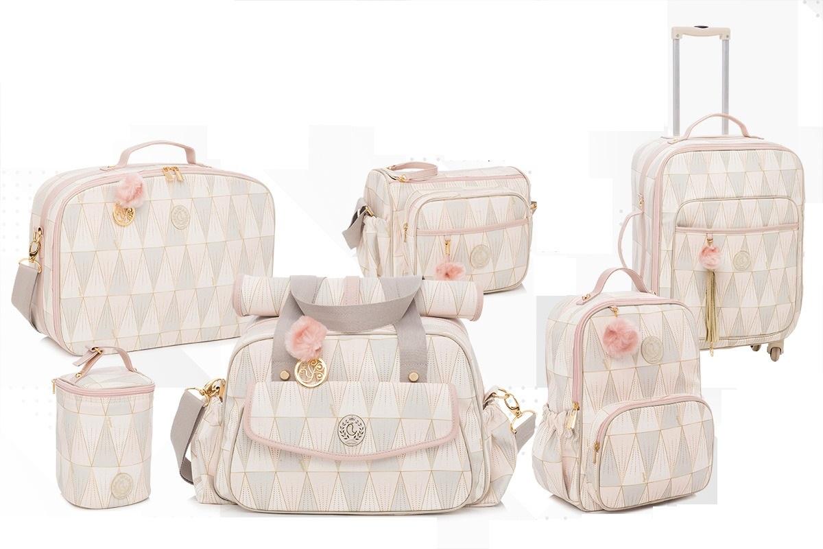 Kit Bolsa maternidade Luxor rosa - Lequiqui