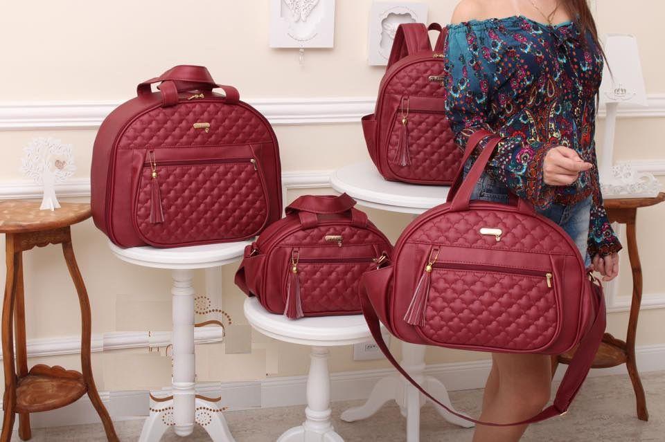 Kit bolsa maternidade Vermelha - Coleção Colours - By Children
