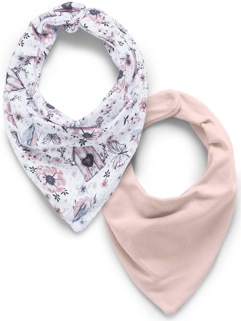 Kit com 2 babadores bandana HUG - Jardim rosa