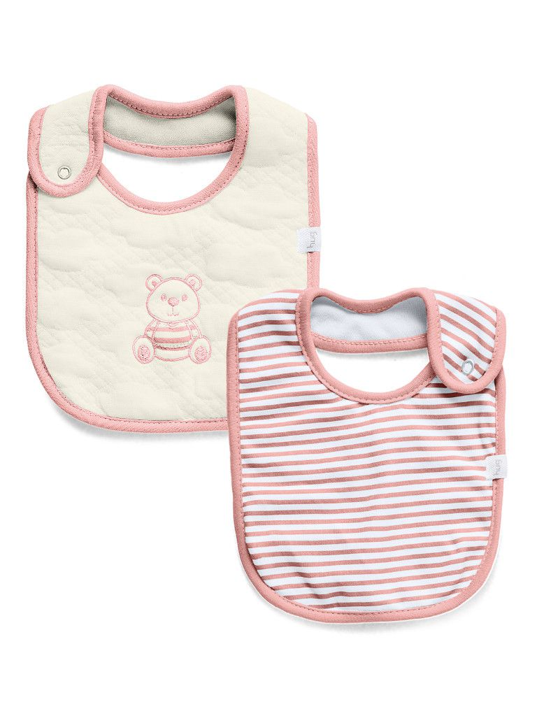 Kit babador impermeável 2 unidades Little Dreamer Rosa - Hug