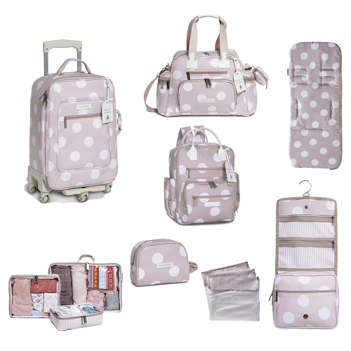 Kit de Bolsa Maternidade com 8 itens Bubble Rosa - Masterbag Baby