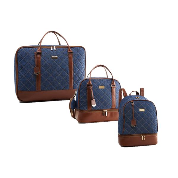 Kit de bolsa maternidade com mala e mochila Santorini - Just Baby