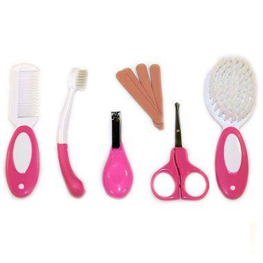 Kit de Higiene para bebês Pink com cortador de unha