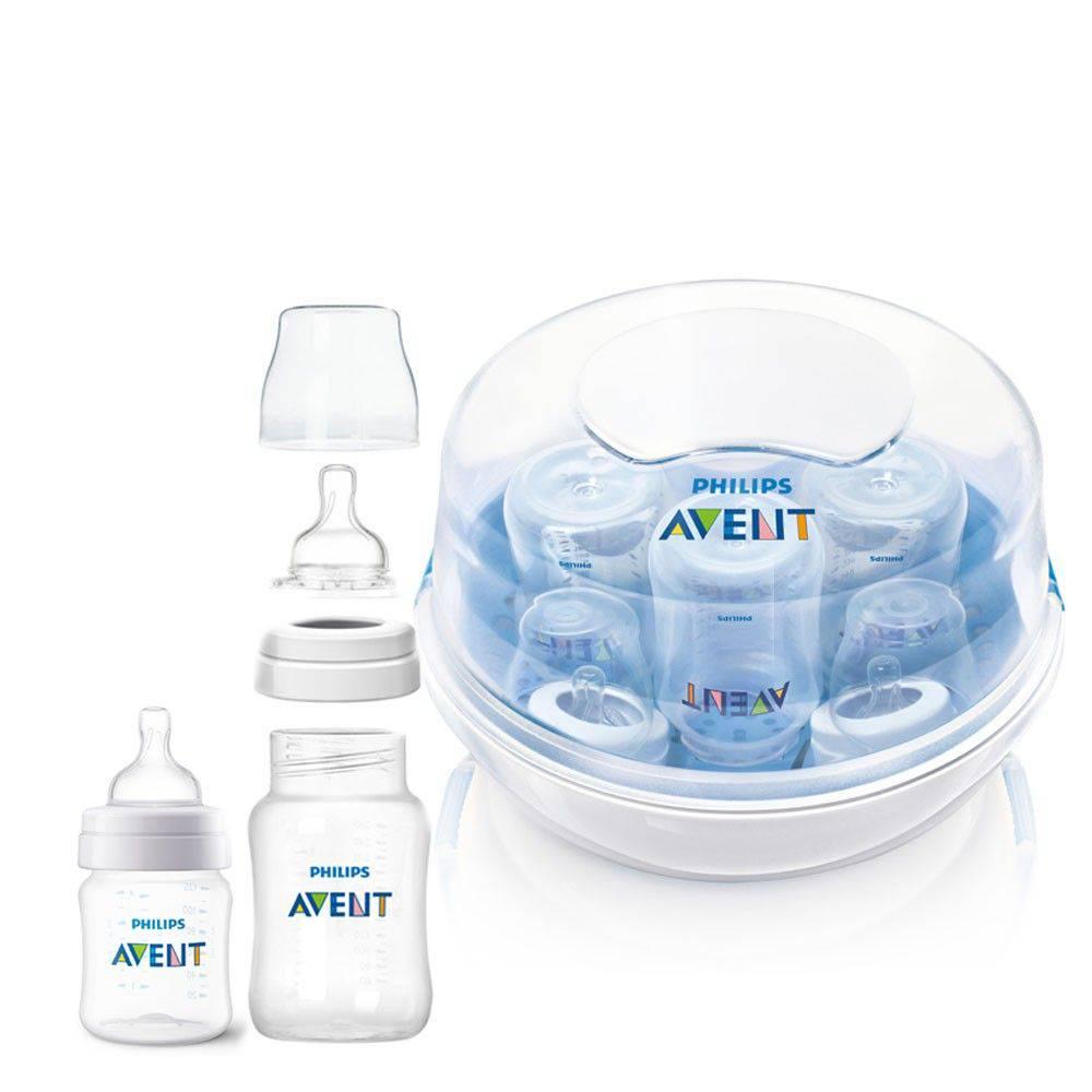 Esterilizador de mamadeiras Avent + Mamadeiras Clássicas Avent 125ml e 260ml KIT - Philips Avent