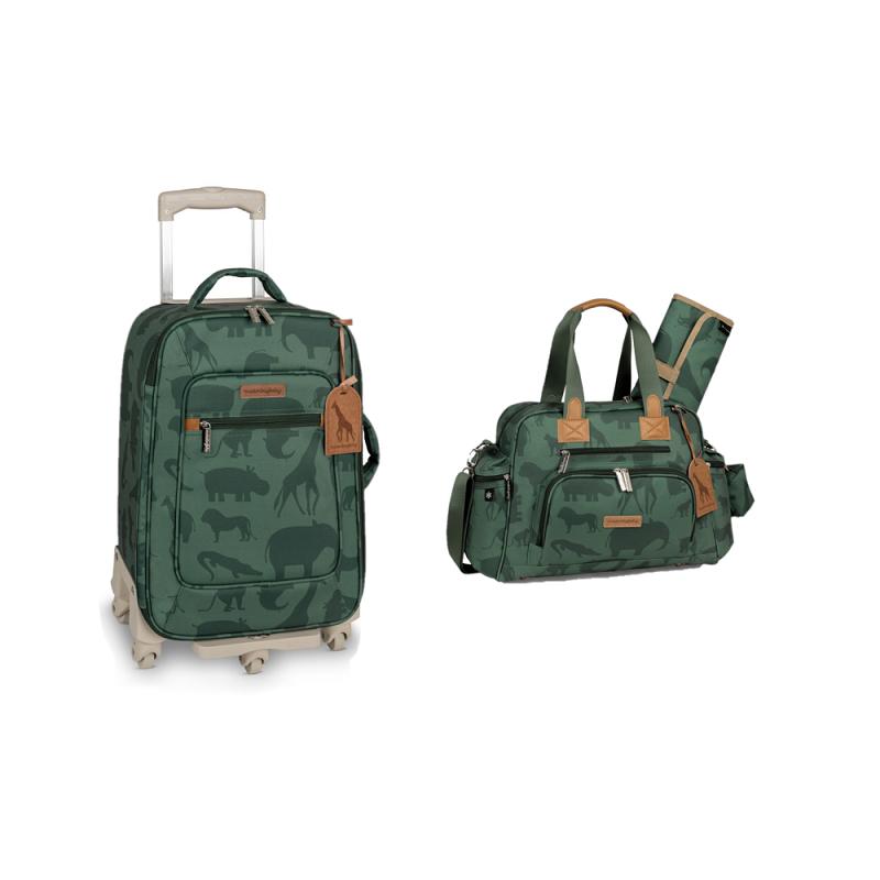 Kit mala de rodinha com bolsa de maternidade Safari - Masterbag Baby