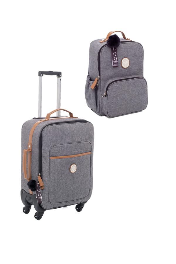 Kit Mala de rodinha e mochila Denver - Lequiqui