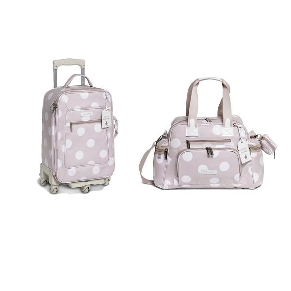 Kit mala maternidade com rodinha e bolsa everyday Bubble Rosa - Masterbag Baby