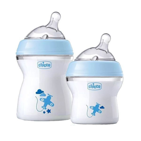 Kit Mamadeira Azul Step Up 150Ml e 250ML  - Chicco