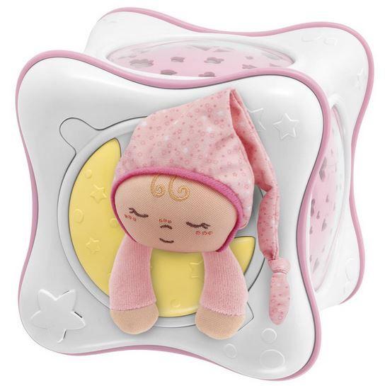 Luminária e Projetor Chicco First Dreams Rainbow Cube - Rosa