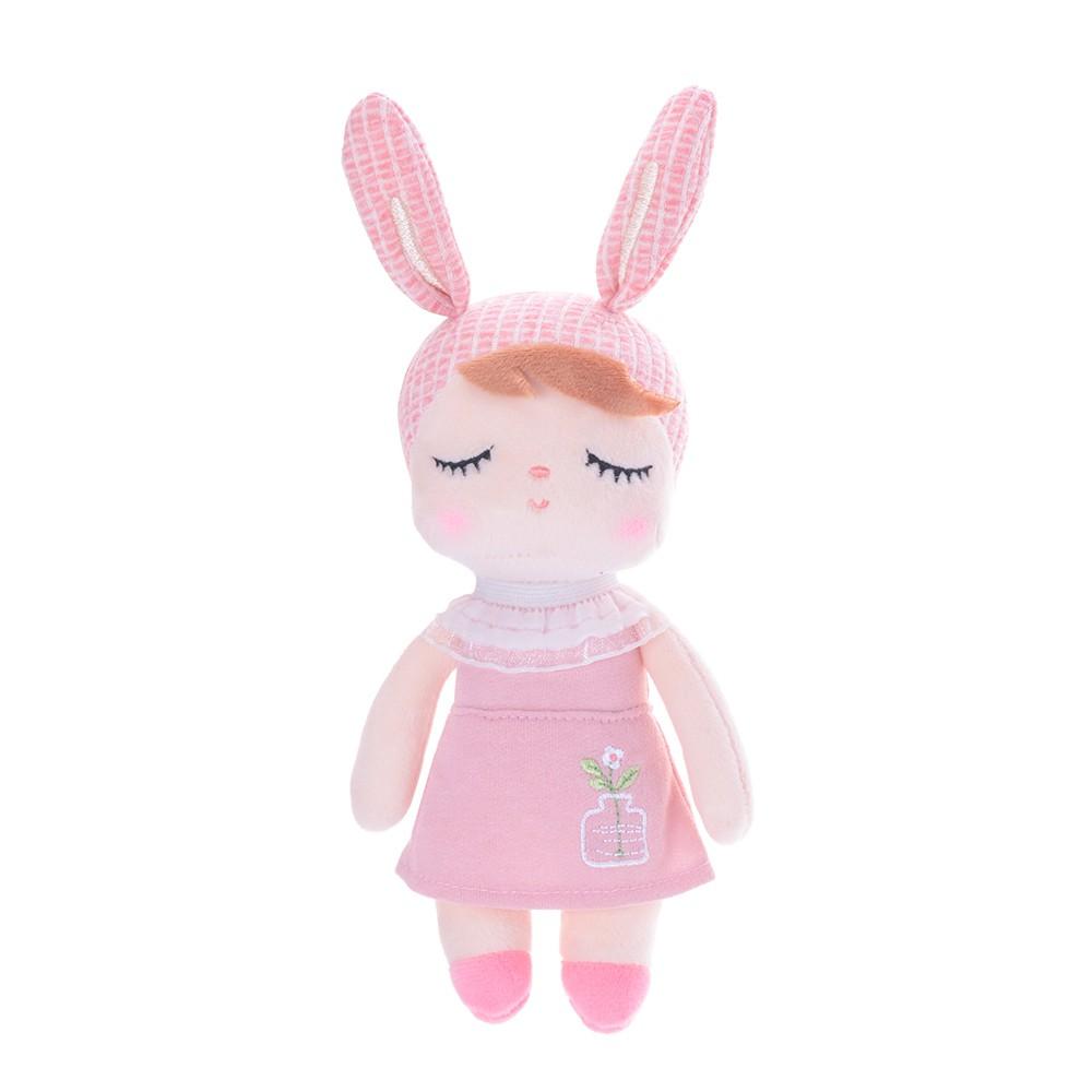 Mini Boneca Metoo Angela Jardineira Rosa 21 cm - Metoo