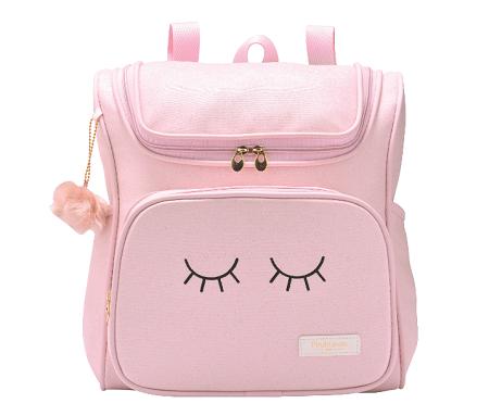 Mochila de maternidade grande rosa coleção chuva de amor - Pirulitando baby