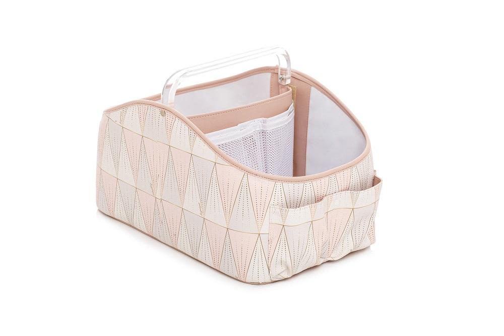 Porta fraldas e organizador de higiêne para bebês Luxor Rosa - Lequiqui