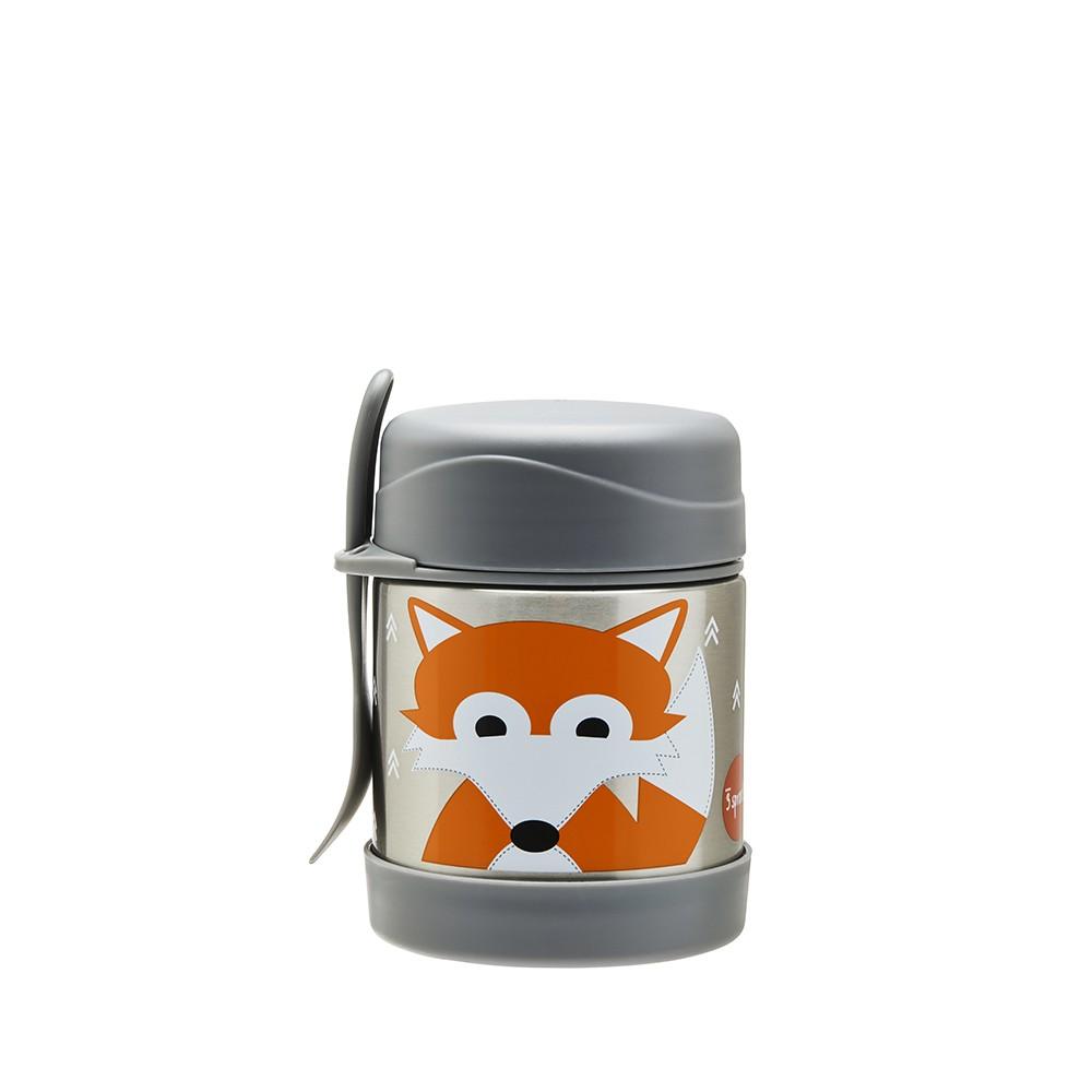 Pote Térmico Inox com Talher duração de 4 a 6 horas quente ou frio Raposa - 3 Sprouts