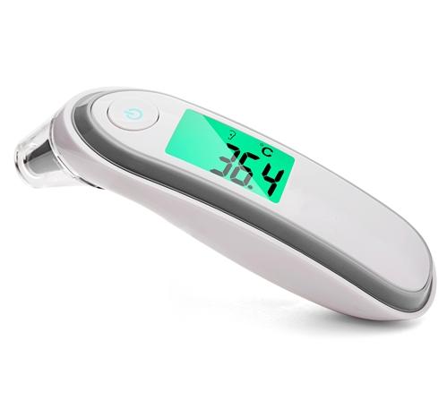 Termômetro LCD sem toque Cinza