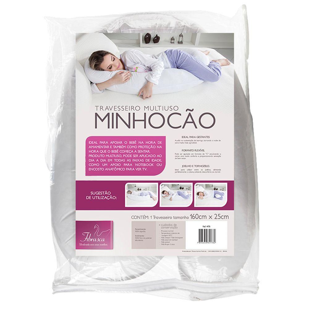 Travesseiro de corpo Multiuso Minhocão - Fibrasca