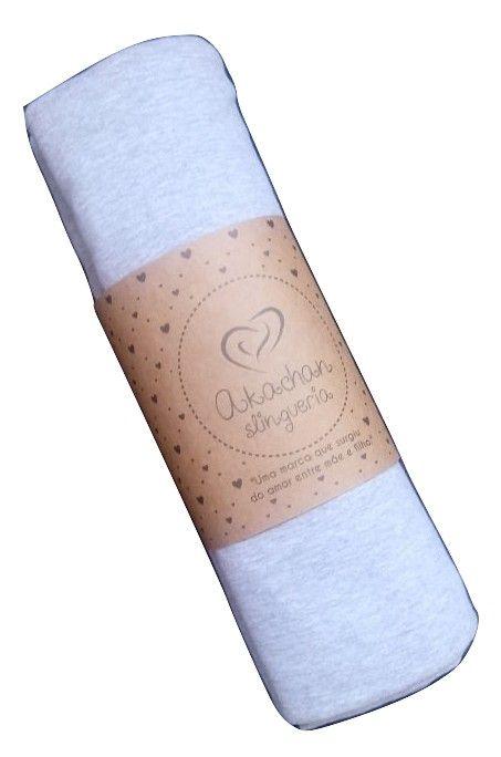 Wrap Sling Malha cinza mescla 5 mts - akachan slingueria