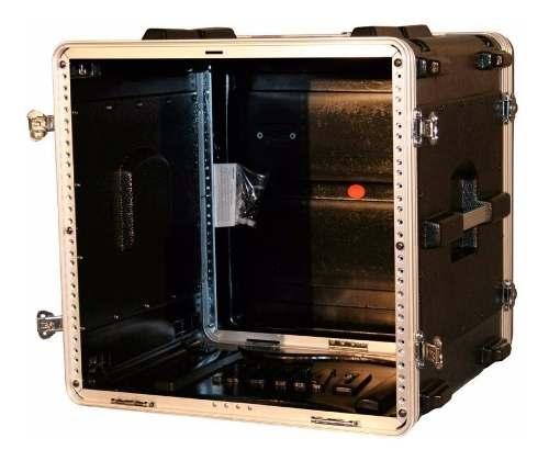 Case para transporte com espaço de 10U Padrão 19 polegadas e Barras Frente, verso | Gator | GR10L