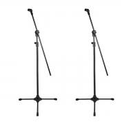 2 Pedestais Girafa Para Microfone + Cachimbo RMV PSU0142