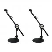 2 Suportes de mesa p/ Microfone + Cachimbo Vector SM30P