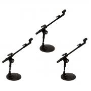 3 Suportes para Microfone + Cachimbo Vector SM20P