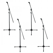 4 Pedestais Girafa Para Microfone + Cachimbo RMV PSU0142