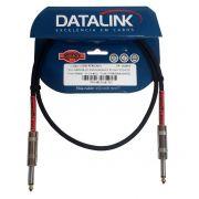 CABO INSTRUMENTO 1 METRO P10 - P10 0,20MM DATALINK GI006