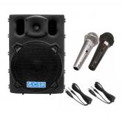 Caixa Ativa 10 polegadas CSR2500A + 1 par de Microfones