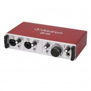 Interface USB 2 canais XLR 24bit 192 Khz PC MAC Alctron U48