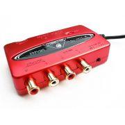 Interface USB 2 entradas e 2 saídas | Saída para Fone e Saída Óptica | Behringer | U-CONTROL UCA222