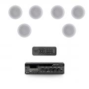 Kit 6 arandelas + amplificador USB Frahm Slim1000APP