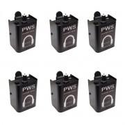 Kit 6 controladores de volume in/out XLR PWS CB1-PLUS
