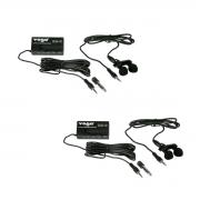Kit com 2 Microfone de Lapela com fio Yoga EM-6