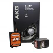 Kit Fone AKG K414P, Amplificador F10 e Fonte Powerclick