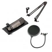 Kit Microfone Suporte e Pop Filter | Superlux Jiaxi