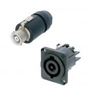 Kit Powercon Linha + Painel 32A Neutrik NAC3FCHC