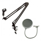 Kit Suporte articulado + Pop Filter JIAXI NB35 MS15