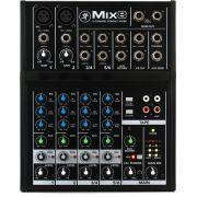 Mesa 2 canais p/ mic, 2 canais estéreo, 1 AUX e 48v Mackie MIX8