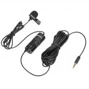 Microfone de lapela com saída para fone Boya BY-M1 PRO