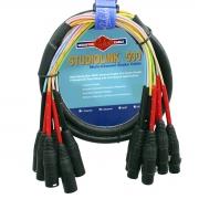 Multicabo 8 vias XLR Monster Cable SL500-S8-X-1