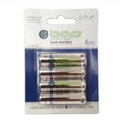 Pacote com 4 pilhas AA Alcalinas 1.5V BAP BAP-SA065