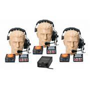 Sistema comunicação de 3 pontos | Fonte, Headset, Controles e Sinalizadores | MGA Pro Audio | SI33