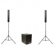 Sistema de Áudio Vertical com 700 Watts DBR DVA1200