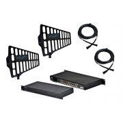 Sistema de RF para microfone UHF com Distribuidor, Antenas e Cabos | MGA Pro Audio | US4 2075 A1