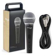 Microfone p/ vocal e instrumento + cabo 5m Stagg SDM50