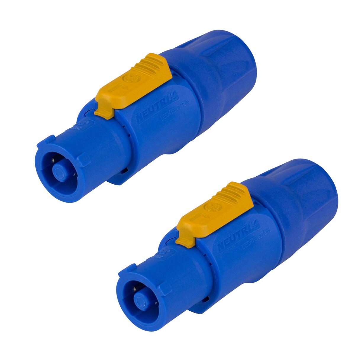 1 Par de Powercon Azul 20A p/ cabo Neutrik NAC3FCA