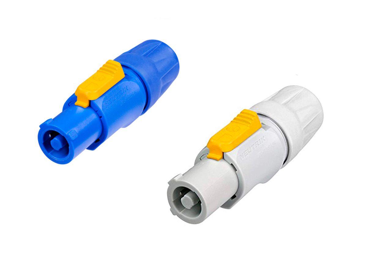 1 Par de Powercon Azul + Branco 20A Neutrik NAC3FCA NAC3FCB