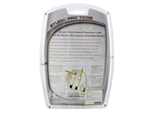Cabo para instrumento P10 / P10 mono com 1,82 metros | Studio Pro 1000 | Monster Cable | M SP1000-I-6