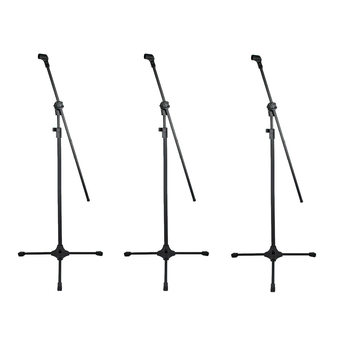 3 Pedestais Girafa Para Microfone + Cachimbo RMV PSU0142