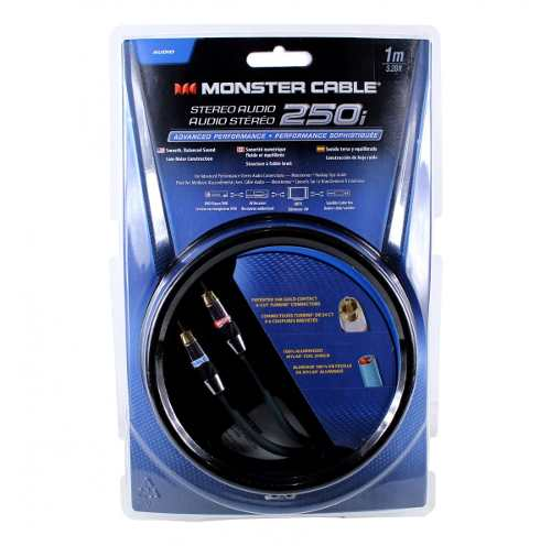 Cabo áudio 2 RCA X 2 RCA 1m Monster Cable MC250I-1M-EFS