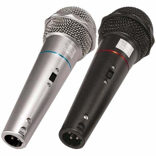 Kit 2 Microfones c/ fio + 2 cabo 3m CSR CSR505